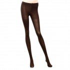 Fashion Velvet Nylon High Pantyhose Stockings for Women - Coffee