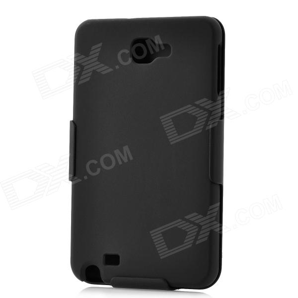 Fashion Protective Plastic Case w/ Back Clip for Samsung i9220 - Black high tech and fashion electric product shell plastic mold