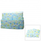 Simple Non-Woven Clothes Finishing Bag - Blue + Green (2 PCS)