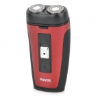 POVOS PW902 Electric 2-Blade-Head Rotating Shaver Razor - Red