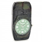 Tank Shape Quartz Watch Windproof Butane Gas Lighter - Camouflage (1 x 377)