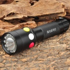NEW-X03 White + Red + Yellow 3 Color Lights Signal Flashlight - Black (1 x 18650)