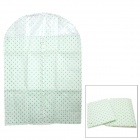 Dot Pattern Non-Woven Large Overcoat Suit Dustproof Bag - Green (2 PCS)