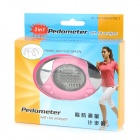 "1.5"" LCD Pedometer with Fat Analyzer - Pink + Silver (1 x CR2025)"