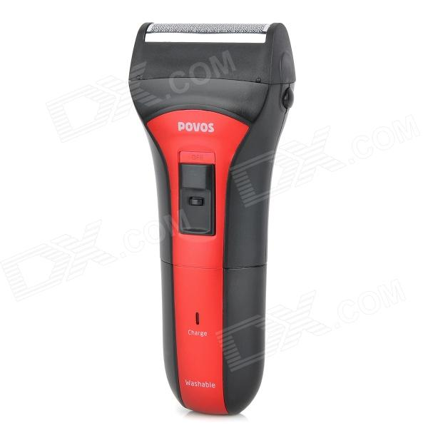 POVOS PS2203 Washable Electric Single-Blade Reciprocating Shaver Razor - Red povos pq8608 wet dry power rechargeable men s razor