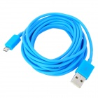 USB Male to Micro USB Male Data / Charging Cable - Blue (300cm)