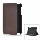 Protective PU Leather Case for Google Nexus 7 - Brown + Black