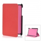 Protective PU Leather Case for Google Nexus 7 - Red + Black