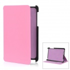 Protective PU Leather Case for Google Nexus 7 - Pink + Black