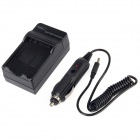 AC Digital Battery Charger w/ Car Charger for Nikon EN-EL14 - Black (AC 100~240V / 2-Flat-Pin Plug)