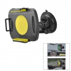 Car Windshield Swivel Mount Holder for Samsung Galaxy Note 10.1 GT-N8000 / P5100 - Black + Yellow