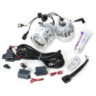 H4 35W 2800lm 6000K HID White Headlamp w/ Blue Angel Eye