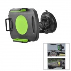 Car Windshield Swivel Mount Holder for Samsung Galaxy Note 10.1 GT-N8000 / P5100 - Black + Green
