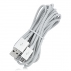 USB Male to Micro USB Male Data / Charging Cable for Samsung i9100 - White (300cm)
