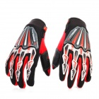 Scoyco Stylish Motorcycle Racing Full-Finger Gloves - Black + Red (Pair / Size L)