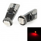 T10 1W 60lm 5050 SMD LED Red Light Decode Car Tail / Reading / Steering Lamps (2 PCS)