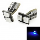 T10 1W 85lm 2x5050 SMD LED Blue Light Decode Car Tail / Clearance / Steering Lamps (2 PCS)