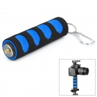Anti-Skip Sponge 1/4'' Screw Handle Grip Stabilizer for Camera / DSLR + More - Black + Blue (13cm)