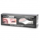 MAXDONA YYT-20 Makeup Mineral Eye Shadow Stickers - White + Grey + Pink (6 Pairs)