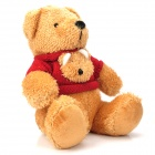 Lovely Plush Bear Doll w/ Sweater - Red + Yellow