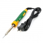 BST-813 30W Soldering Iron - Green + Silver (500'C / 2-Flat-Pin Plug / AC 220~240 / 80cm-Cable)
