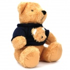 Lovely Plush Bear Doll w/ Sweater - Black + Yellow
