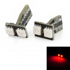 T10 1W 85lm 2x5050 SMD LED Red Light Decode Car Tail / Clearance / Steering Lamps (2 PCS)