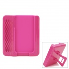 Crazy Speaker Amplifier with Adjustable Stand for iPhone 4 / 4S - Deep Pink