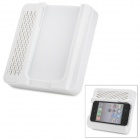 Crazy Speaker Amplifier w/ Adjustable Stand for iPhone 4 / 4S - White