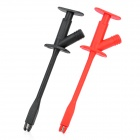 Safety Alligator Clip Probe with Wide Opening Jaws - Red + Black (2 PCS)