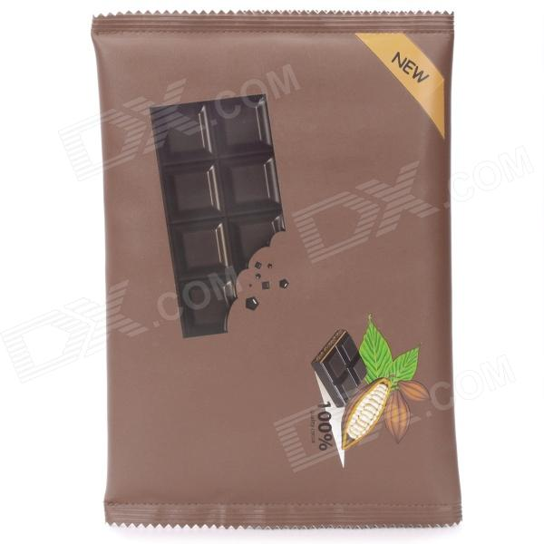Chocolate Packaging Style Protective PU Leather Bag - Deep Brown (Size-L) butterfly pu leather pouch bag for cell phone gadgets orange