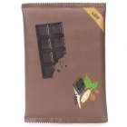 Chocolate Packaging Style Protective PU Leather Bag - Deep Brown (Size-L)