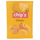 Potato Chips Packaging Style Protective Soft PU Leather Bag - Yellow (Size-L)