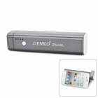 MP-01 3-in-1 2600mAh Mobile Battery Pack + Speaker + Holder for iPhone / iPad + More - Grey