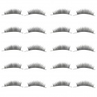 Man-Made Fiber Dark Fake Eyelashes Set - Black (10 Pairs)