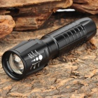 NEW-A11 Cree XR-E Q5 235LM 3-Mode White Light Zoom Flashlight - Black (1 x 18650)