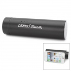 MP-02 3-in-1 5200mAh Mobile Battery Pack + Speaker + Holder for iPhone / iPad + More - Black