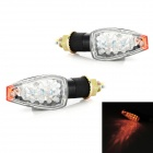 1W 14-LED Yellow Light Motorcycle Steering / Signal Lamp (12V / 25cm / 2 PCS)