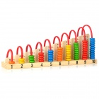 JIWANG XM-3010 1 + 1 Wooden Calculation Toy Shelf - Multicolored