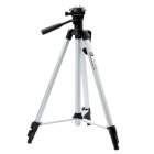 Retractable 3-Section Tripod w/ Level Gradienter for SLR Camera - Silver + Black
