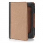 Protective PU Leather Case w/ 2-LED White Light for Kindle 4 - Brown