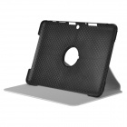 Protective 360 Degree Rotation PU Leather Case for Samsung P5100 / P5110 / P5113 - White