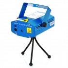 Mini 50mW Green + 100mW Red Laser Stage Lighting Projector w/ Tripod - Blue (AC 100~240V)