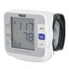 "AGE BW-601 2.2"" LCD Auto Wrist Blood Pressure Pulse Meter - White + Grey (2 x AAA)"