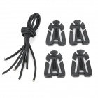 Multifunction Web Dominator w/ Shock Cord - Black (4 PCS)