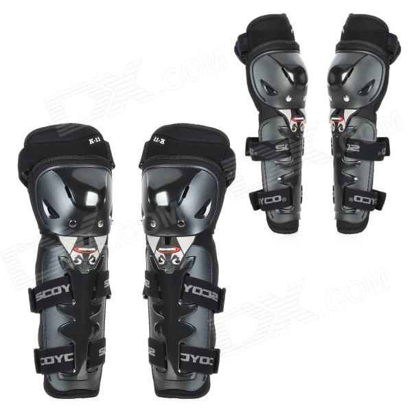 Scoyco K11H11 Motorcycle Sports Knee + Elbow Protector Pad Guard Kit - Black