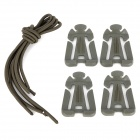 Multifunction Web Dominator w/ Shock Cord - Army Green (4 PCS)