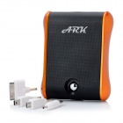Tragbare 12000mAh Externer Not-Akku w / USB / Micro USB / Adapter - Orange (DC 5V)