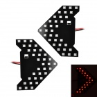 1.6W 80lm 33x3528 SMD LED Red Light Car Steering Lamp (2 PCS)