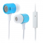 Awei ES-i108 In-Ear Earphone w/ Microphone - White + Blue (3.5mm / 120cm)